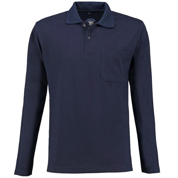 Bioaktives Herren Langarm-Poloshirt
