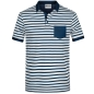 Preview: James & Nicholson Herren Polo-Shirt gestreift