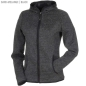 Preview: James & Nicholson Ladies' Knitted Fleece Hoody