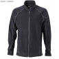 Preview: James & Nicholson Herren Struktur Fleece Jacke