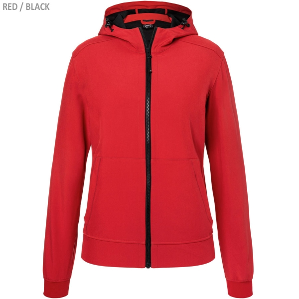 James & Nicholson Ladies' Hooded Softshell Jacket