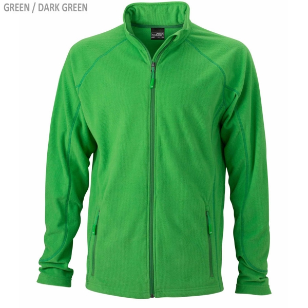 James & Nicholson Herren Struktur Fleece Jacke