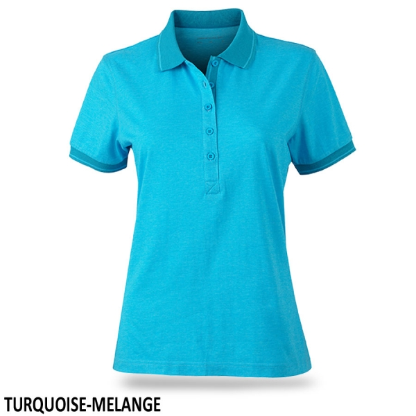 James & Nicholson Ladies' Heather Polo