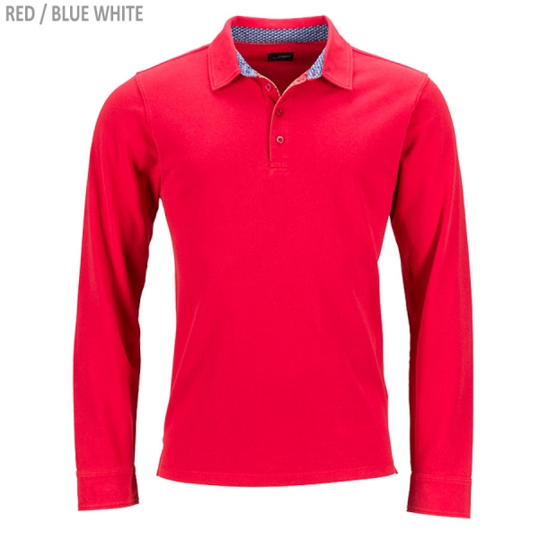 James & Nicholson Men's Polo Longs-Sleeved