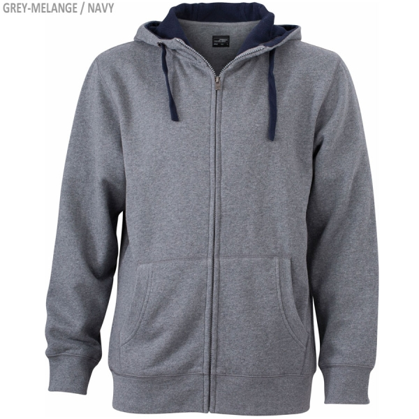 James & Nicholson Men´s Lifestyle Zip-Hoody