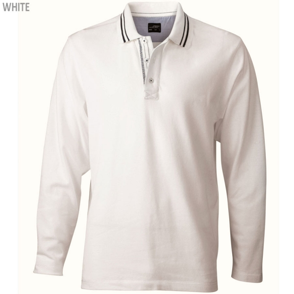 James & Nicholson Men's Polo Long-Sleeved