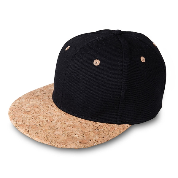 myrtle beach 6 Panel Cork Flat Peak Cap