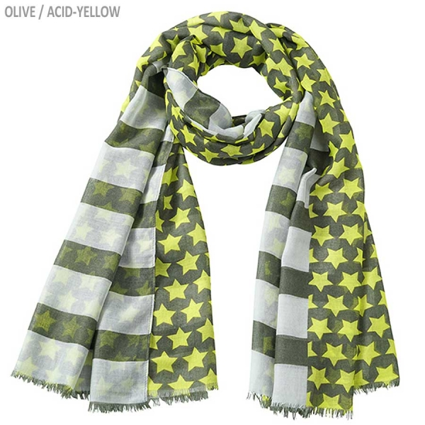"myrtle beach Scarf ""Stripes and Stars"""