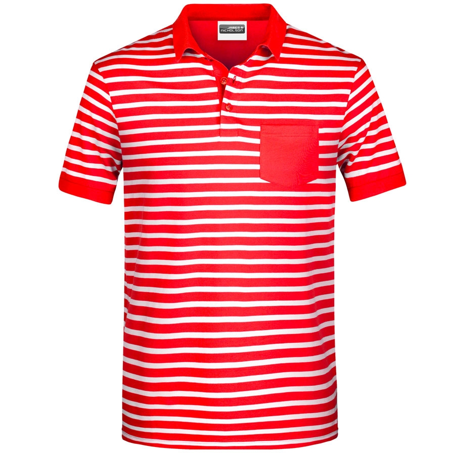 James & Nicholson Herren Polo-Shirt gestreift