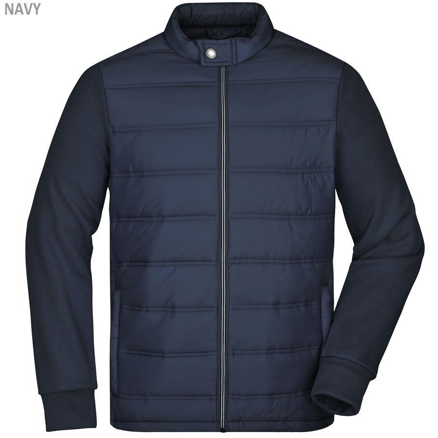 James & Nicholson Herren Hybrid Sweat Jacke