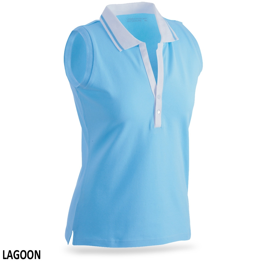 James & Nicholson Ladies' Elastic Polo Sleeveless