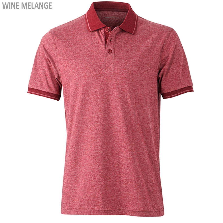 James & Nicholson Men's Heather Polo