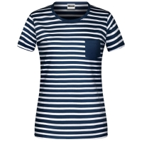 James & Nicholson Damen T-Shirt gestreift