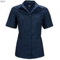 James & Nicholson Damen Business Bluse - Kurzarm