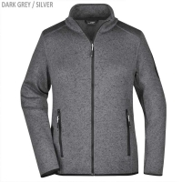 James & Nicholson Damen Strickfleece Jacke